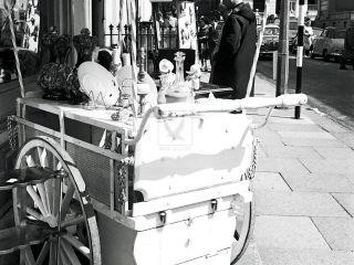 Trolley at Portobello road market street photography 1950s