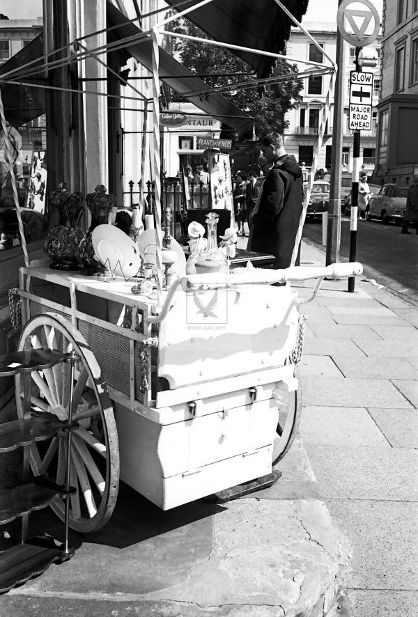 Trolley at Portobello road market street photography 1950s