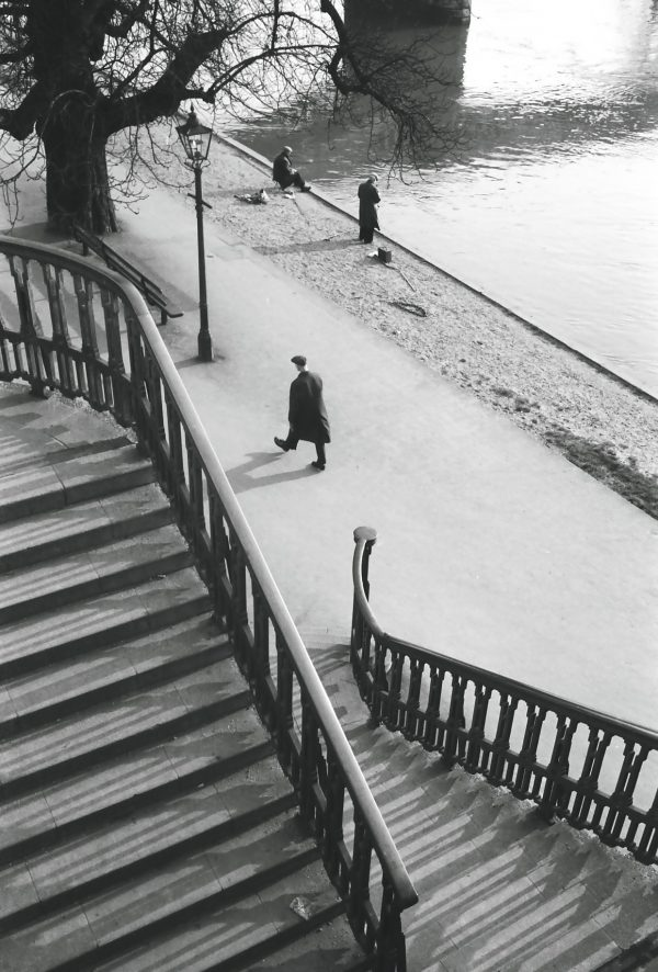 1950's stairwell to river thames
