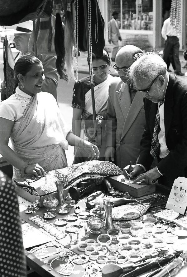 Indian woman at portobello road market London
