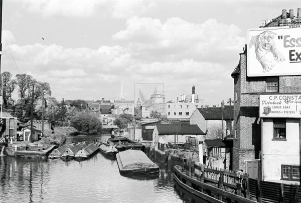 workhorse boats on the thames 1950s photograph