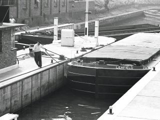 Brentford dock London 1950s photography