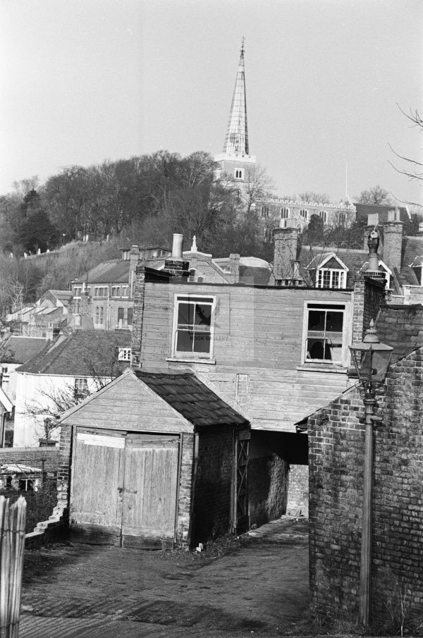 London 1950's house from high up in