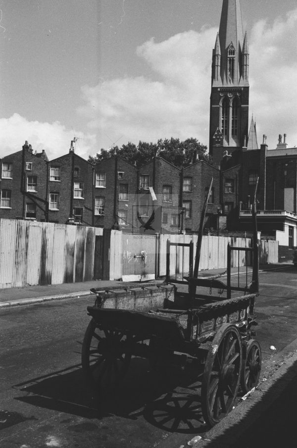 1950s rag and bone man cart black and white picture