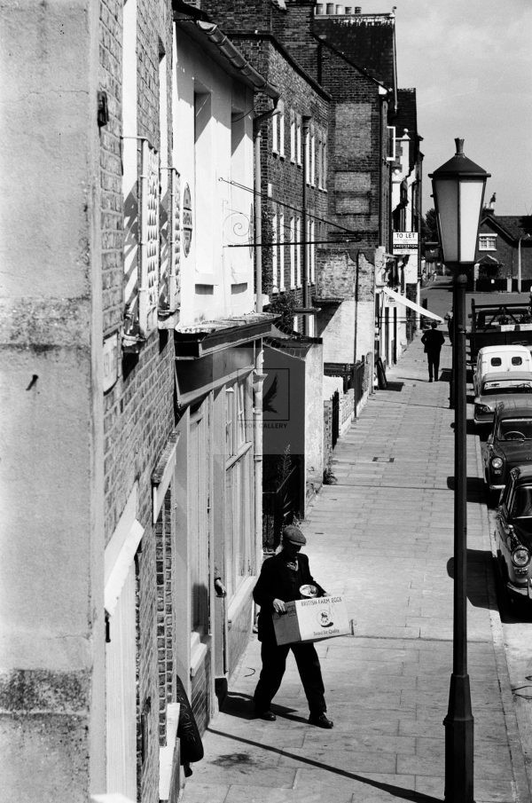 London delivery man taking a walk in 1950s